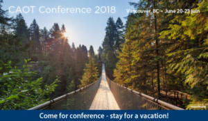 CAOT Conference 2018 @ Sheraton Vancouver Wall Centre